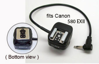 PW-MHSF1-580EXII   Retains full ETTL with on camera  Canon-580EXII Speedlights