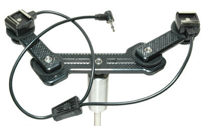 "DSD-2-YHS Double Strobe Dolly, and ""HS Y cord"" , (""T mount) and 2 ""Xtend Arm"