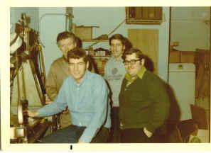 1965 Photo: Front left Gary Rosenkranz, Front right Harry Summer ( engineer ), Back Left Ralph Rosenkranz, Back right Marc Rosenkranz